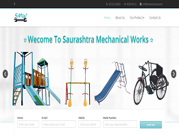 Saurashtra Mechnical Works design and developed by KK Web Developer
