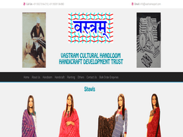 Vastram Caltural Handloom and Handicraft Development Trust Website design and developed by KK Web Developer